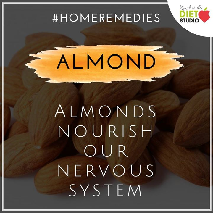 Almonds have high levels of brain-healthy omega-3 fatty acids and lots of brain-protecting vitamin E. #homeremedies #health #almonds #nrevoussystem #brainfood #vitaminE #fattyacid