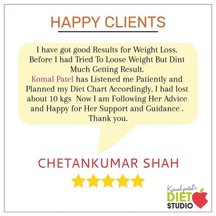 Komal Patel,  happyclient, clientdiaries, weightless, fatloss, dietstudio, dietplan, komalpatel