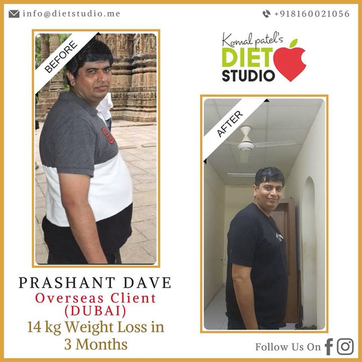 For those who are concern whether online diet plan works as effectively as visiting the clinic, here's the result.  Prashant Dave from Dubai has lost 14 kg in 3mnths.  It does not matter where you are, and no time to visit to clinic. What matters is your commitment and dedication towards healthy living.  Are you committed for healthy living?  To get started visit Mail us on info@dietstudio.me #weightloss #weightlossplan #Dietplan #fatloss #fitness