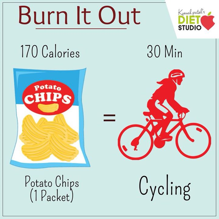 Burn it out We tend to buy a packet of chips without even giving it a thought. A simple packet of chips is going to give u around 150-170 calories  Instead replace them with veg sticks or some nuts to munch on. #burnout #calories #chips #unjunk