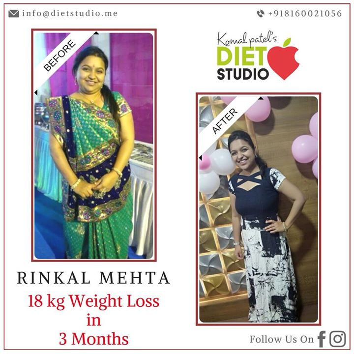 The picture says it all. When there is dedication to be on healthy eating and exercise results are for sure.  #weightloss #fatloss #weightlossdiet #dietplan #diet #dietstudio #dietclinic
