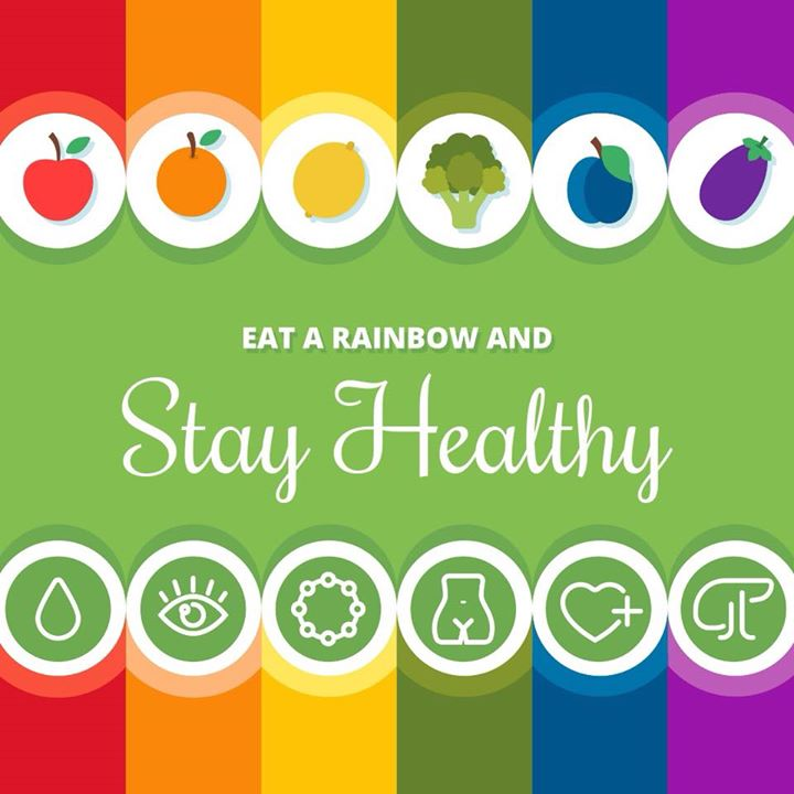 Eat a rainbow everyday. Different coloured fruits and vegetables have different phytochemicals, to keep your health at its best. #rainbow #colour #vegetables #fruits #balanceddiet #balancedmeal #balance #health
