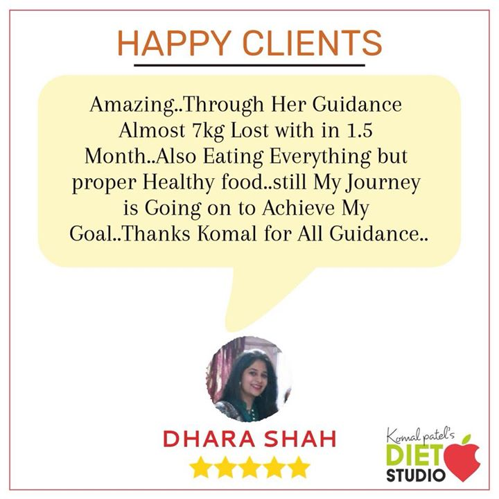 Clients appreciation  Feels good to see when dhara decided to go on healthy lifestyle with eating healthy, and losing weight rather fats inspite of her busy schedules and traveling. Great going Dhara.. #weightloss #fatloss #diet #healthylifestyle #health #weights #lifestyle #komalpatel #dietitian #dietclinic