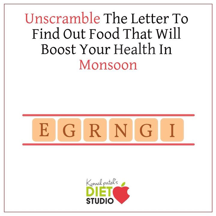 Try out this jumbled word..... #monsoonhealth #monsoon #food #unscramble #health