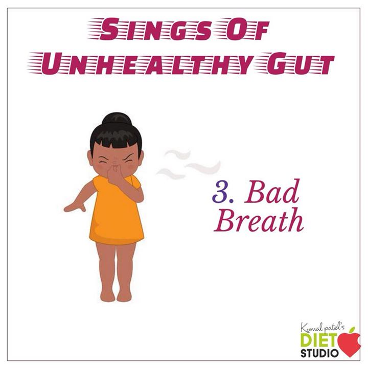 The bad breath is coming from the gut region not the mouth.  No matter how much you brush your teeth or clean your tongue the smell doesn't go away.  The ratio of good and bad bacteria is a crucial indicator of the condition of your health.  Bad breath is a sign your gut flora isn't optimal.  #gut #guthealth #gutflora #bacteria #goodhealth #leakygut