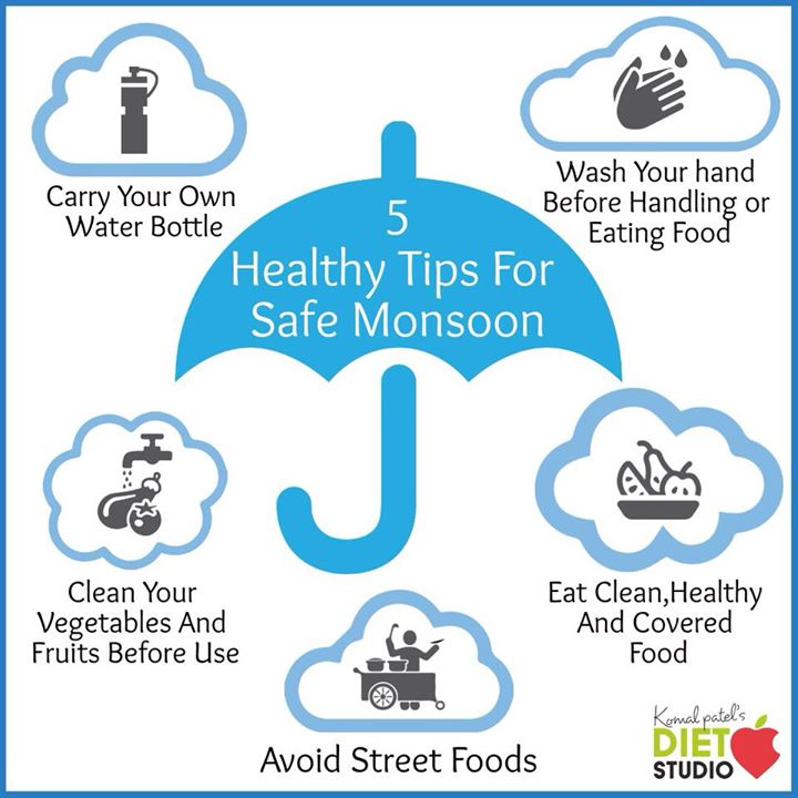 While the showers of first rain may bring joy, it can also give rise to various health problems.. This season go an extra mile to keep the germs and bacteria away. #monsoon #monsoontips #healthtips #safemonsoon #dietstudio
