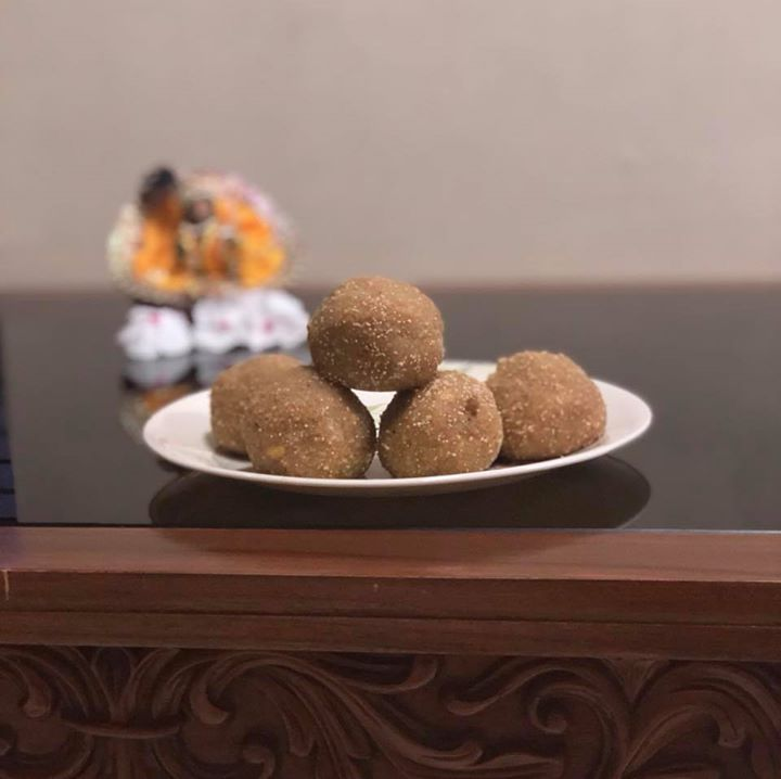 Ladoo offering to lord on occasion of Rathayatra....  #ladoo #rathayatra #offering #sweets #indiansweet #guiltfree #moderation