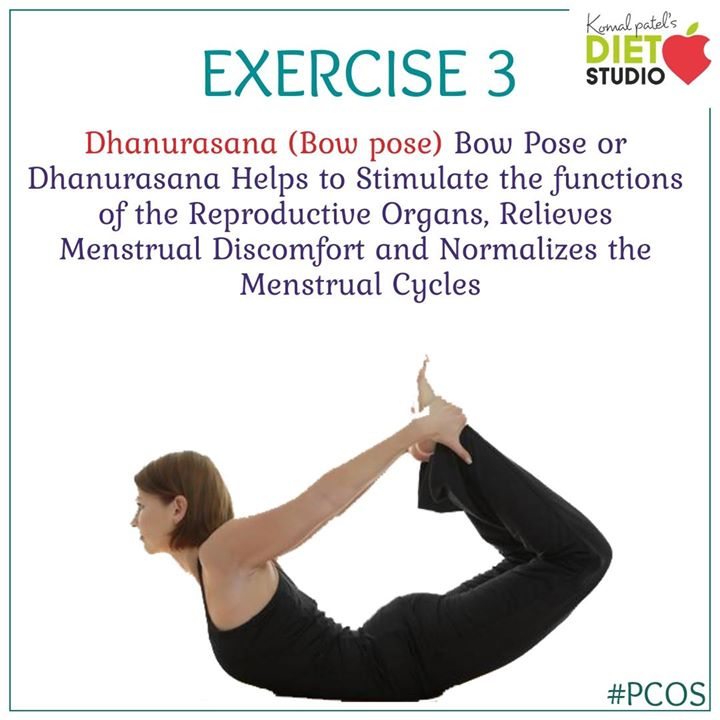 The bow pose is another functional posture that is used for polycystic ovary syndrome treatment using yoga. #pcos #pcoslife #exercise #yoga #healtth