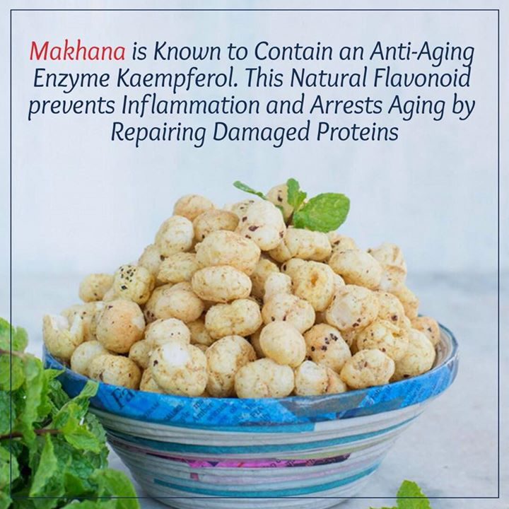For a healthy snack chose makhana as it is known for antiaging properties... #makhana #lotusseed #snack #healthysnack #health #officesnack #tiffinsnack