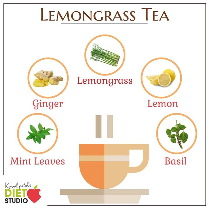 Lemongrass has antibacterial and antifungal properties that help you cope with cold, cough and flu. Plus, it is loaded with Vitamin C that strengthens your immunity. #lemongrass #tea #herbaltea #mint #tulsi #ginger #immunity