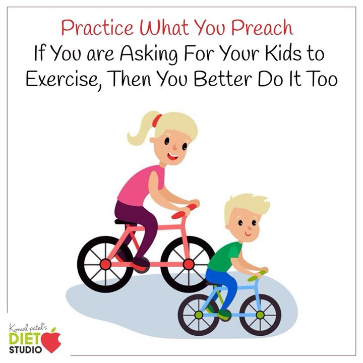 Practice what you preach... #kidshealth #kidsnutrition #kids #parenting #parenthood #parents #nutrition #fitness #practice