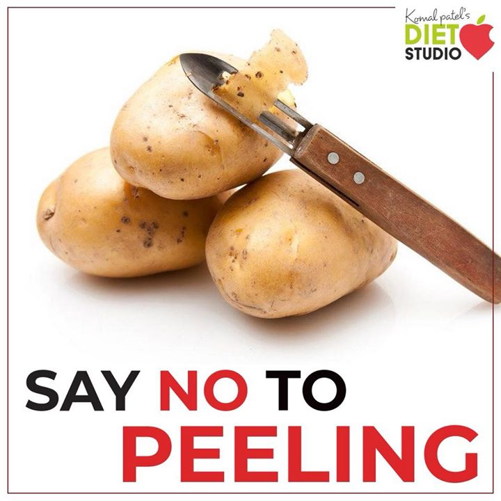 If the first thing you do before cooking a potato is peel off the skin, you're not alone. Although many people choose to peel the skin away from the potato before cooking and eating, leaving the skin on could be a healthier choice. The potato skin not only adds fiber and nutrients, but it also helps the flesh of the potato retain its nutrients.  Be sure to wash them thoroughly. #potato #peel #nutrition