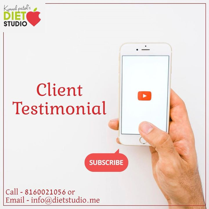 Komal Patel,  youtube, channel, clients, clienttestimonial, dietstudio, dietstudiofamily