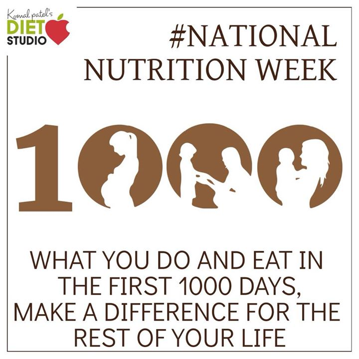 The first 1,000 days of life - is a unique period of opportunity when the foundations of optimum health, growth, and development across the lifespan are established. The 1,000 days from the start of a woman's pregnancy until her child's second birthday offer a opportunity to shape healthier and more prosperous futures. The right nutrition during this 1,000 day window can have an enormous impact on a child's ability to grow, learn, and develop #nationalnutritionweek #nutrition #nationalnutritionmonth #kidshealth #childdevelopment #komalpatel #dietstudio