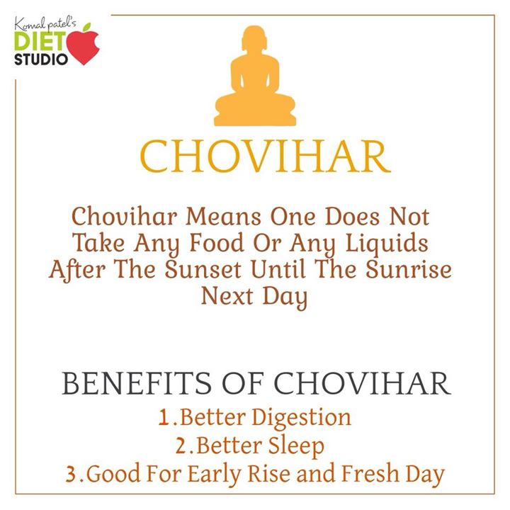 Chauvihar is a terminology and practice in Jainism which means one does not take any food or any liquids after the sunset until the sunrise next day.  #jainism #chovihar #fasting