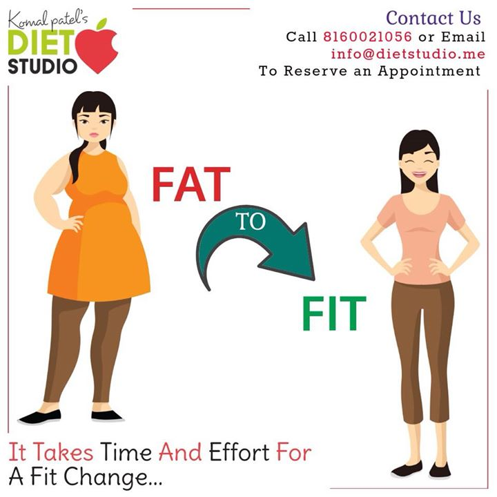 It takes time, effort and proper guidance for a fit change. Contact komal Patel's diet studio for healthy lifestyle and fit body. #diet #health #healthybody #healthylifestyle #komalpatel #dietstudio #dietplan