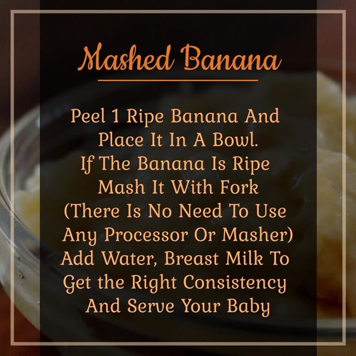 Check out for the recipe of weaning food... #lactation #weaning #weaningfood #mashedbanana #nutrition #nutritionweek #nutritionmonth