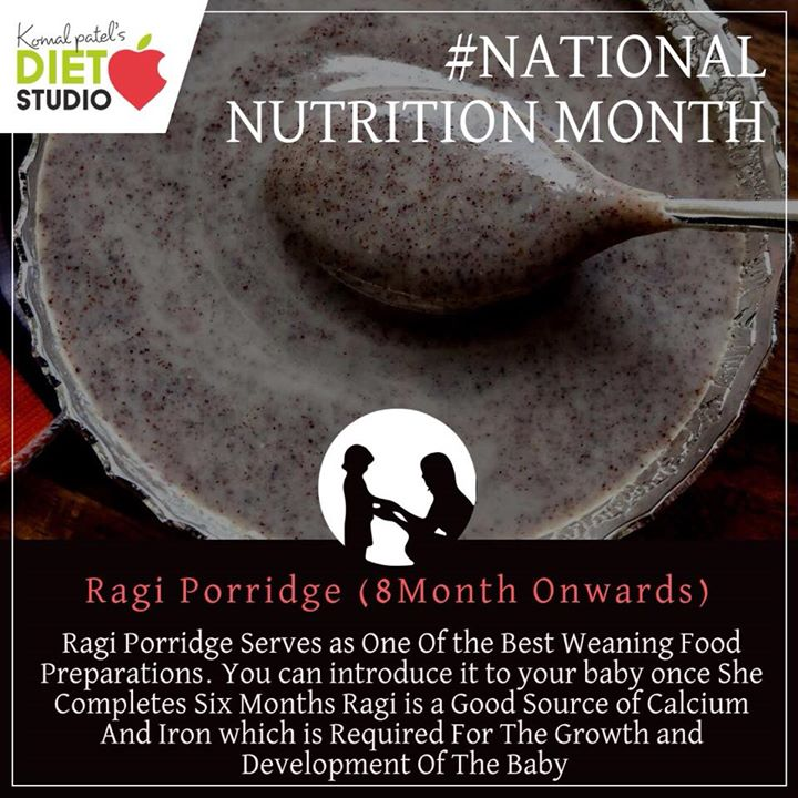 Komal Patel,  weaning, weaningfood, nutritionmonth, nutrition, nutritionweek, mashedbanana, banana, ragi, ragiporridge
