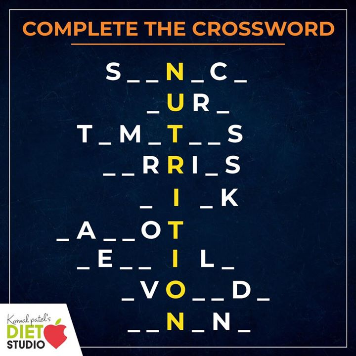 Complete the nutrition crossword....