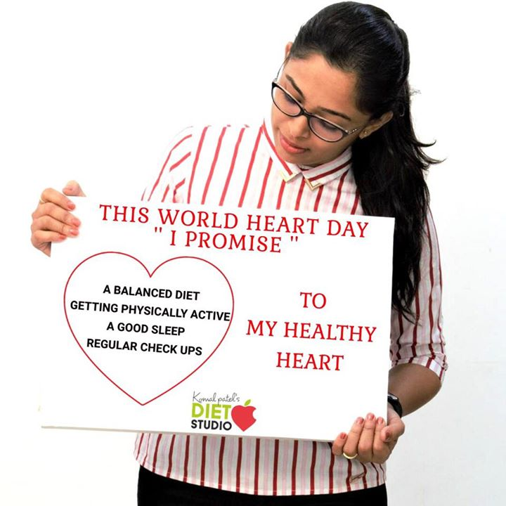 This world heart day promise 1 healthy habit for a healthy heart ... #worldheartday #heart #heartday #healthyheart #healthyeating #balanceddiet #exercise