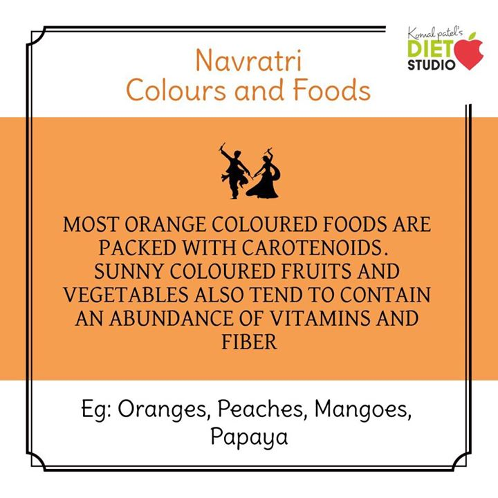 Each day of the Navratri stands for an auspicious colour, which is dedicated to all the avatars of the Goddess. Let's celebrate it with Food's of the colour by knowing its importance and it's healthy recipes... #navratri #navratra #navratridiet #nvaratrifast #fasting #fastdiet #komalpatel #dietitian #dietclinic