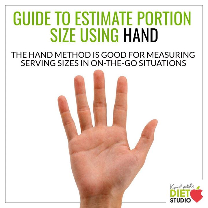 When it comes to eating well, how much you eat can be just as important as what you eat.  Using your hand can be an easy way to check the size of your food portions. Look out for the different hand portion guide for proper servings. #serving #portion #portioncontrol #healthy #healthylifestyle #handportion
