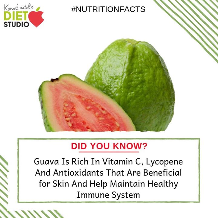 #didyouknow  Guavas are packed with nutrients and have special properties that can boost your health.  The guava is a powerhouse of nutrients, providing fiber, energy, and vitamins, like vitamin A, C and numerous members of the B-complex group. You will also find healthy doses of the essential minerals calcium, phosphorus, iron, magnesium, and potassium.  #guava #benefits #nutrition #nutritionfacts #fruit #seasonalfruit
