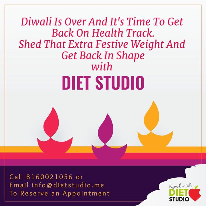 Time to be back on health track  Contact us for any health information  #dietstudio #dietclinic #komalpatel #weightloss #health #festiveweight