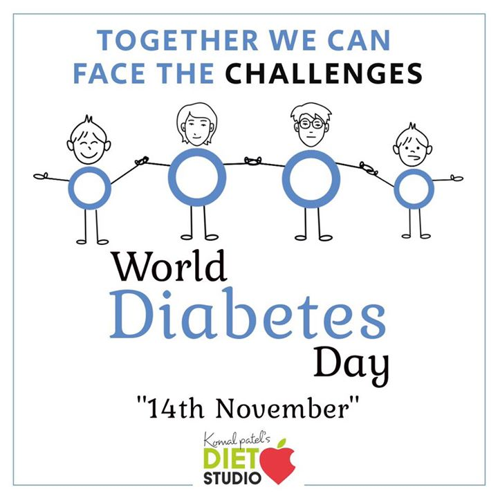 14th November is celebrated as diabetes day as well as children's day. #diabetesday #worlddiabetesday #childrensday #children #nutrition #diet #komalpatel