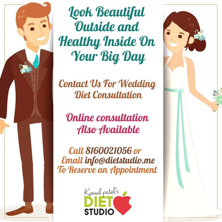Want to be in your best shape for your wedding?  Contact us for that perfect look on your big day  #bridal #bridaldiet #dietplan #weddingplans #dietstudio #komalpatel #dietitian #online