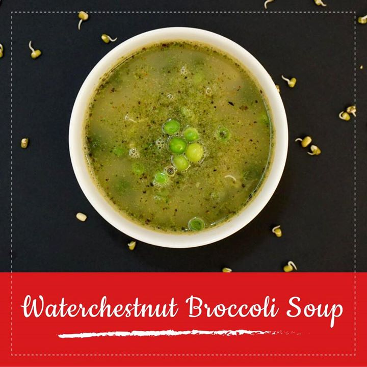 The awesome benefits of broccoli with the awesome crunch of water chestnuts makes this soup healthy and with full of nutrition.  Addition of peas and sprouts to it makes it a complete meal. Check out the video for water chestnut and broccoli soup https://youtu.be/AkPa3TAFPmU #soup #youtube #video #waterchestnut #broccoli #peas #sprouts