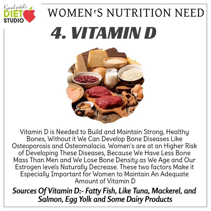 While women tend to need fewer calories than men, our requirements for certain vitamins and minerals are much higher. Check out the nutrients women need more. #nutrient #womenshealth #womensnutrition #calories #vitamins #minerals #folicacid