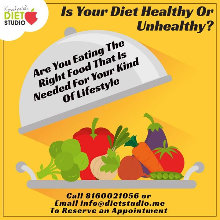 Are you eating the right food that is required for your body?   Contact us for a customized diet plan based on your history , medical history, and your lifestyle.  Call us on 8160021056  Or mail us on  Info@dietstudio.me  #dietclinic #diet #dietplan #komalpatel #weightloss #lifestylemanagment #diabetes #pcos