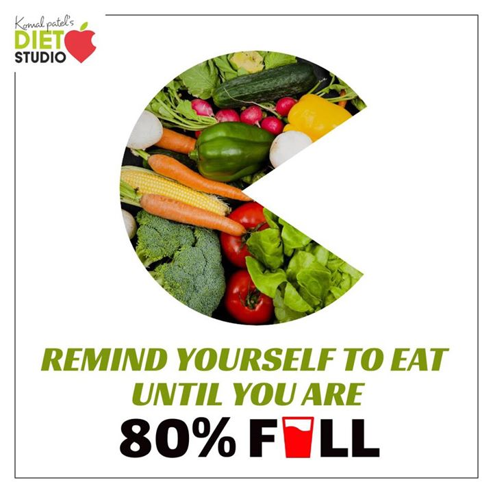 According to the Japanese saying 'Hara Hachi Bu', eat until you are 80% full. Experts say that this is the key to a long, healthy life. Anyone can make changes to their eating patterns or environment, enjoy food, and learn to eat only until they are 80 percent full.  Get started with these easy tips. • Eat more slowly. • Focus on food. • Use small plates.  #harahachibu #80% #mindfulleating #healthyeating #healthypractices #healthylife