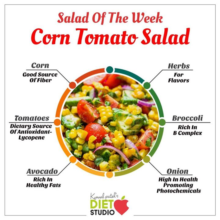 Salad of the week  Corn tomato salad with avocados and herbs is a great winter salad for healthy menus  #corn #tomato #salad #saladoftheweek #avacado