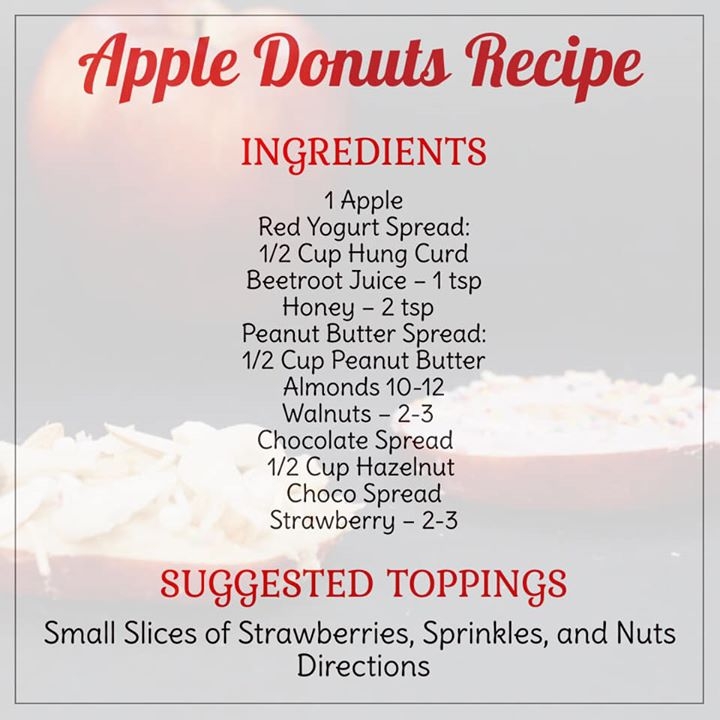 What's better then serving a healthy snack to your kid  These apple donuts are just what you are looking for.  Check out for the recipe and making an amazing donuts for your kids... #donut #apple #appledonut #healthyrecipe #kidshealth #kidsrecipe
