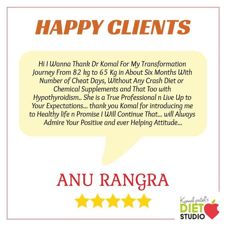 Komal Patel,  happyclient, weightloss, fatloss, inchloss, happy, selfmotivation, eatright, eatsmart, clients, komalpatel, dietstudio, dietitian, nutrition