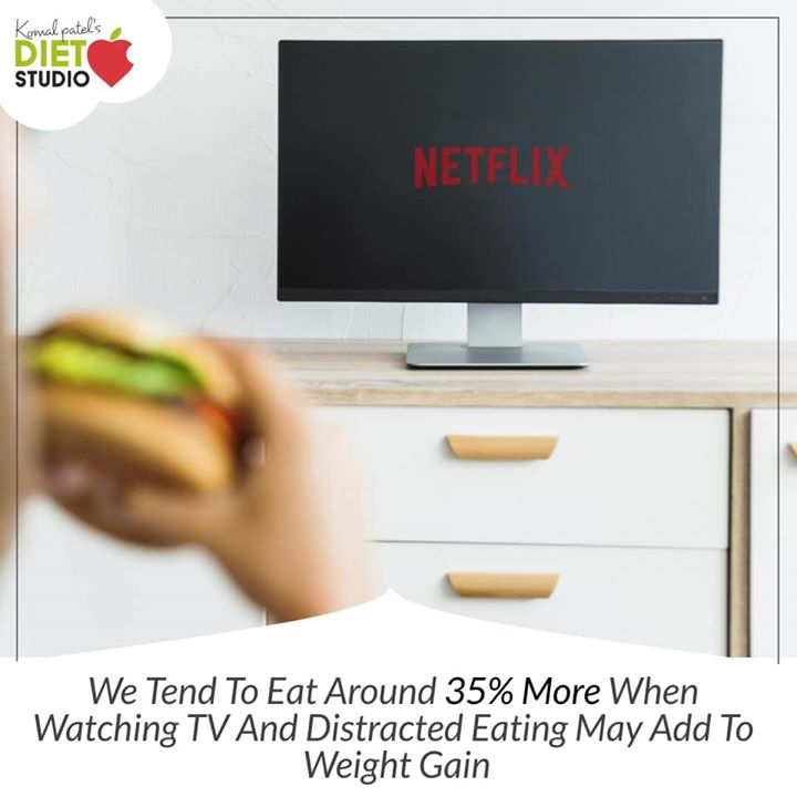 the side effects of watching a lot of TV on your health can be pretty damaging.  So do not eat in front of TV as it distracting and affects your health. #health #tv #badhealth #obesity