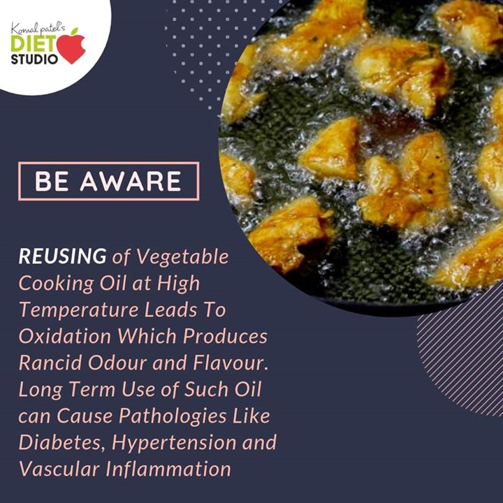 During the deep frying of food, cooking oil is exposed to a very high temperature with the presence of moisture and air under such conditions, a  series of complex chemical reactions take place, following in loss of both quality and nutritional values of the cooking oil. A small change in your daily cooking  Do not reuse deep fryed oil  #oil #vegetableoil #reuse #deepfrying #nutrition