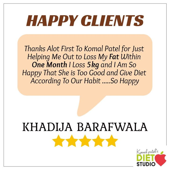 It's only a month and Khadija have achieved what she desired. She lost 5kg in just a month but with determination to eat healthy and dedication to workout everyday. Congratulations for your achievements  #weightloss #weightlossclient #diet #dietplans #dietclinic #komalpatel #dietitian