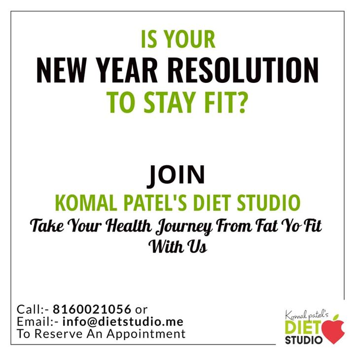 Join us for your New Years fitness goals... #dietstudio #dietclinic #dietplan #weightloss #fitness #komalpatel #dietitian