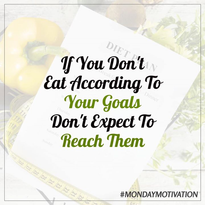 Eat according to your goals. #mondaymotivation #goals #healthy #healthyeating #fitness