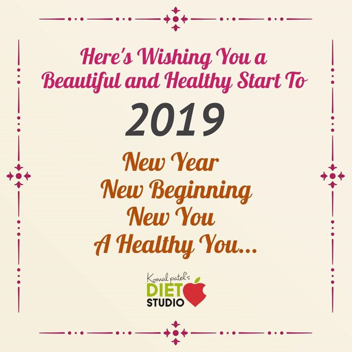 A very happy new year to all from diet studio  Wish you all a healthy and fitful year ahead  #newyear #health #fitness #healthynewyear #komalpatel #dietitian #nutritionist #dietclinic #dietstudio