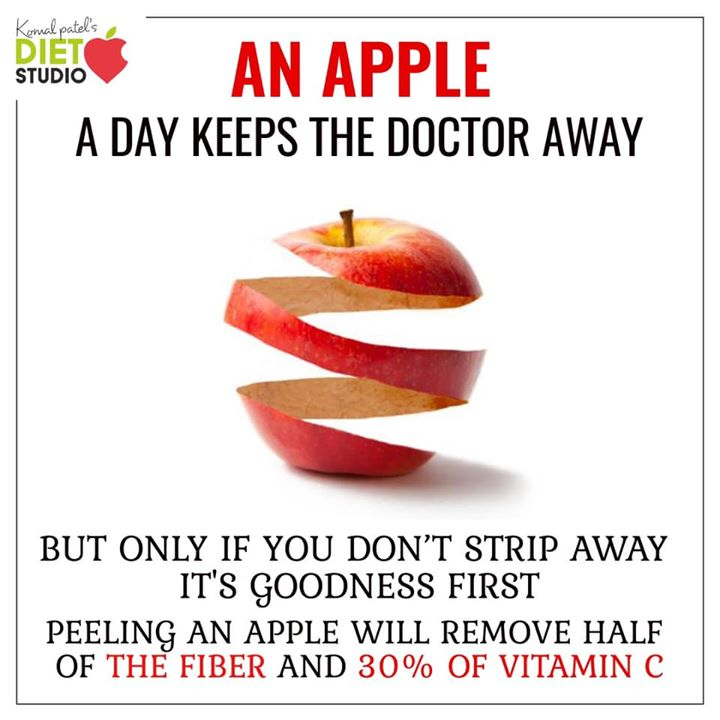 An apple a day keeps a doctor away  But don't peel it  #apple #applepeel #fiber #vitamins #minerals
