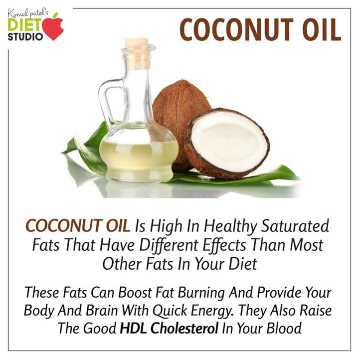 Coconut oil benefits your health in many ways.  But make sure you balance all the fats in a right proportion  Consult a qualified dietitian to make a balanced meal according to your lifestyle and health goals #health #coconutoil #benefits #dietitian #lifestyle #healthylifestyle