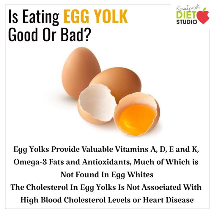 If you're healthy, you can eat eggs guilt-free. Nutritionally, eggs have a lot to offer. With about 70 calories in one large egg, they're a great source of protein that helps stabilize blood sugar levels and provides structure to the body. Egg protein is also high quality, providing all the essential amino acids. #eggs #healthyprotein #protein #eggyolk