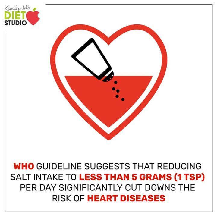 Salt intake of less than 5 grams per day for adults helps to reduce blood pressure and risk of cardiovascular disease, stroke and coronary heart attack.  The recommended amount of salt you are required to take should not be more than 5gm per day  #salt #heart #bloodpressure #risk