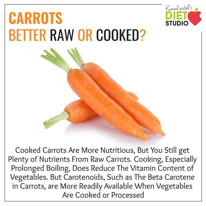 Komal Patel,  carrot, vegetable, raw, cooked, betacarotene, absorbtion