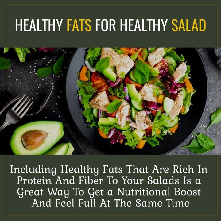 Healthy fats for healthy salad  #salad #health #fats #healthysalad
