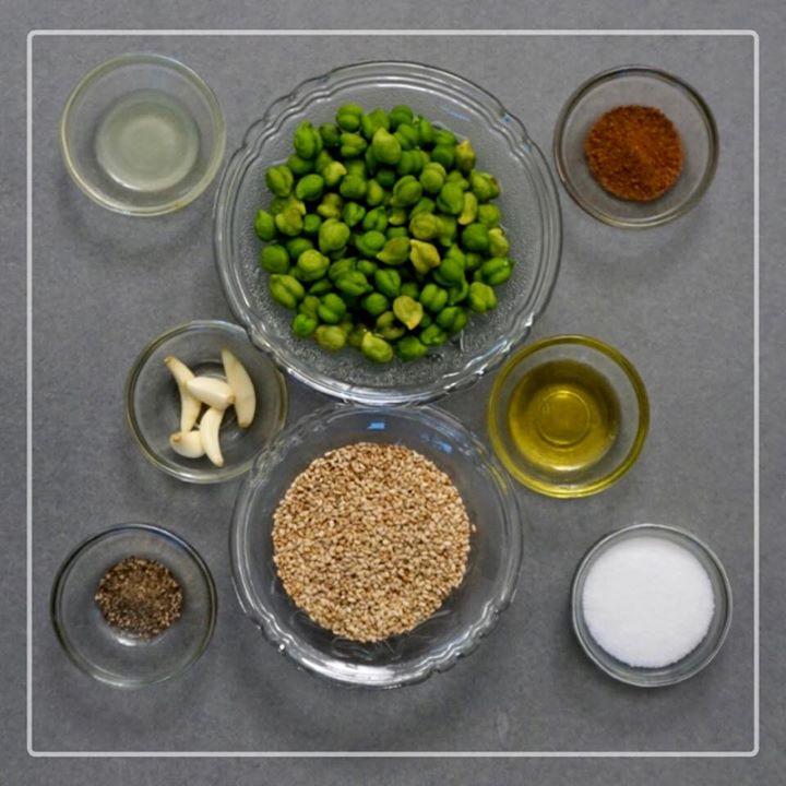 Guess the recipe  #greenchana #sesameseed #oil #salt
